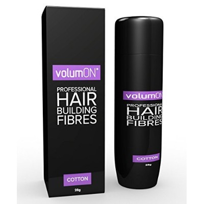 Volumon Professional Hair Building Fibres- Hair Loss Concealer- COTTON- 28g- Get Upto 30 Uses-...