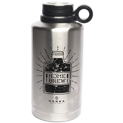 (Home Brew) - Manna Ring Growler 1890ml Vacuum Insulated Stainless Steel Craft and IPA Beer Growler...