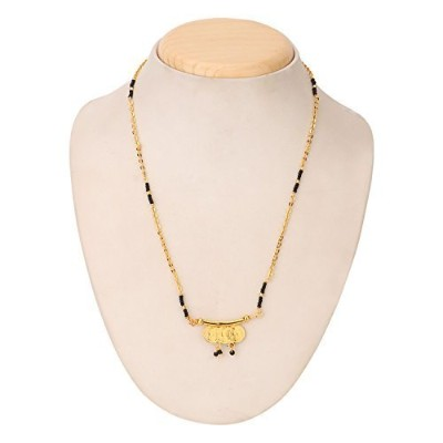efulgenz Indian Bollywood Traditional Gold Plated Mangalsutraペンダントネックレスセットジュエリーレディース