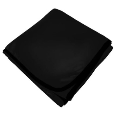 SheetWorld Soft & Stretchy Swaddle Blanket - Black - Made In USA by sheetworld