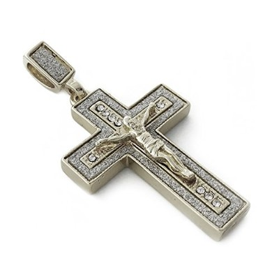 Iced Out Jesus Crucifixペンダントネックレス24 cmロープチェーン
