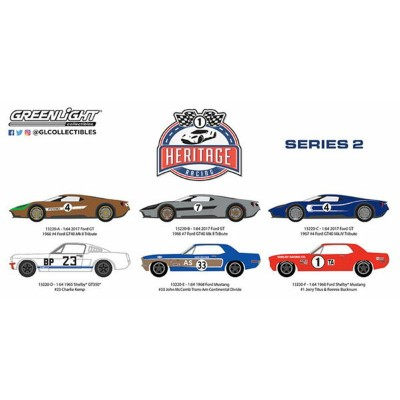 1/64 Ford Racing Heritage Series 2 6個入りアソート[グリーンライト]《12月仮予約》