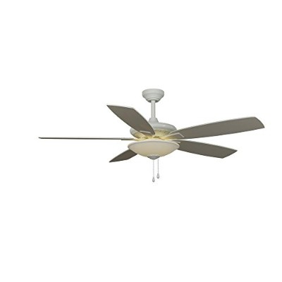Hampton Bay Menage 52 in. Integrated LED Indoor Low Profile White Ceiling Fan with Light Kit and...