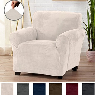 (Chair, Cappuccino) - Form Fit, Slip Resistant, Stylish Furniture Shield/Protector Featuring Velvet...