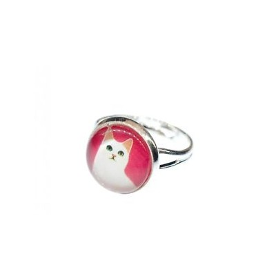 【送料無料】ネコ 猫 ネックレス ピンクminiblingsネコcat ring miniblings silver animal head cat kitten pink silver plain