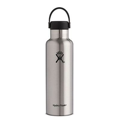Hydro Flask ハイドロフラスコ Stainless Steel Water Bottle Standard Mouth w/Loop Cap [並行輸入品] (Stainless, 21...