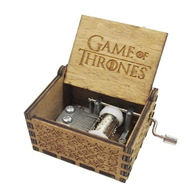 """Special Gift Music Box,""""Game of Thrones"""" Handmade Engraved Wooden for Xmas Gift, Valentines - Game..."""