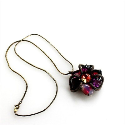 Michel's Vintage Beads Neckrace Bollywoodヴィンテージビーズネックレス・ボリウッド