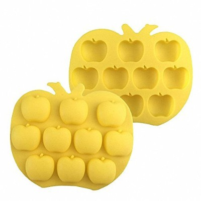 2-Pack Apple Silicone Moulds - MoldFun Apple Mould for Chocolate, Cupcake topper, Jello, Candy,...