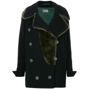 Kolor oversize double breasted coat - ブルー