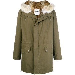 Yves Salomon Army fur-trimmed army coat - グリーン