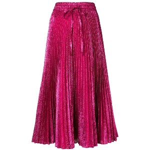 Red Valentino pleated midi skirt - ピンク