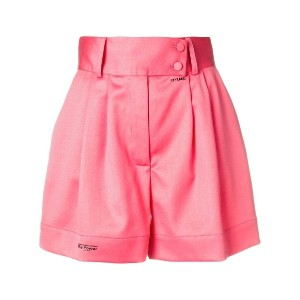 Styland high rise tailored shorts - ピンク&パープル