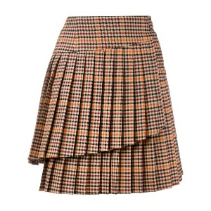 P.A.R.O.S.H. checked mini skirt - ブラウン