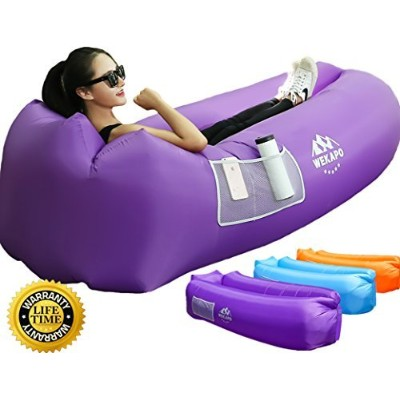 WEKAPO Inflatable Lounger Air Sofa Hammock-Portable,Water Proof& Anti-Air Leaking Design-Ideal...