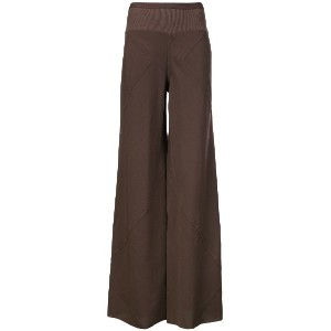 Rick Owens flared trousers - ブラウン