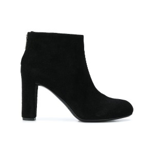 Del Carlo zipped ankle boots - ブラック