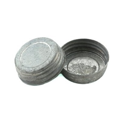 Galvanized Vintage Reproduction Lids for Regular Mouth Mason, Ball, Canning Jars, by Mason Jar...