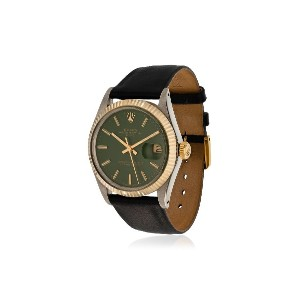 La Californienne Gilt Green Navy Rolex Oyster Perpetual Date Two-tone