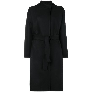 Pinko belted single breasted coat - ブラック