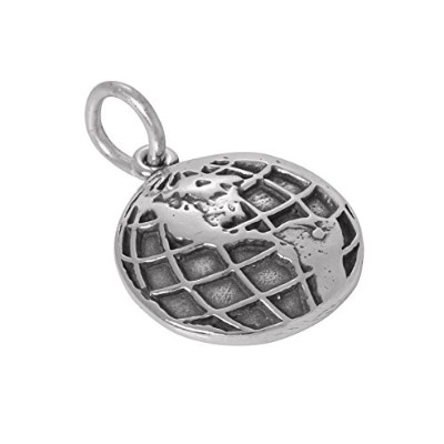 TheCharmWorks Sterling Silver Globe Charm