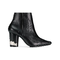 Toga Pulla pointed Western ankle boots - ブラック