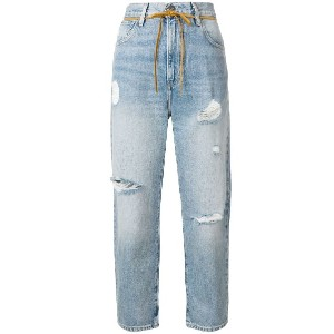 Levi's distressed cropped jeans - ブルー