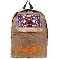Kenzo Tiger Canvas backpack - ブラウン