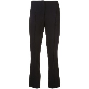 Cinq A Sept cropped side stripe trousers - ブラック