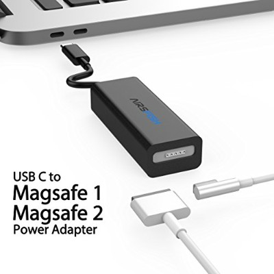 MagSafe to USB Cコンバータ、airsfish USBタイプC to MagSafe 1 (L - Tip) とMagsafe 2 (t-tip) 電源アダプタコネクタケーブルfor...