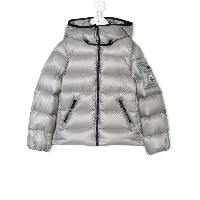 Moncler Kids hooded down jacket - グレー