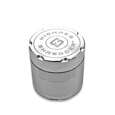 Highper Shredder 4-piece航空機グレードアルミHerb Grinder Small-1.5 inch シルバー
