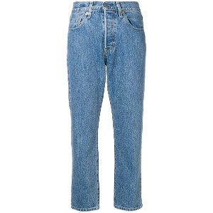Levi's: Made & Crafted cropped straight-leg jeans - ブルー