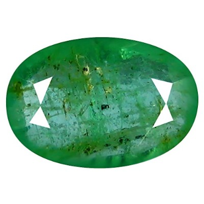 1.09 CTオーバルカット(9 x 6 mm Unheated Colombian Emerald Loose宝石