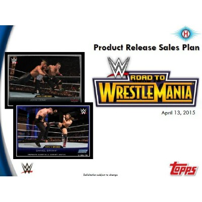 2015 TOPPS WWE ROAD TO WRESTLEMANIA BOX