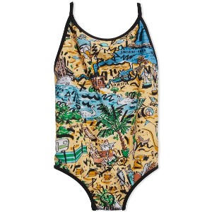 Burberry Kids Seaside one-piece swimsuit - ニュートラル