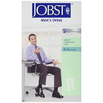 Jobst 110796 Mens Dress 8-15 mmHg Closed Toe Knee Highs - Size & Color- Khaki Small