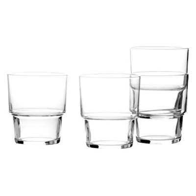 Mikasa Drink4 Stacking Double Old Fashioned Glass, 14.5-Ounce, Set of 4 by Mikasa