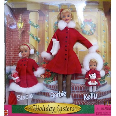 バービー バービー人形 チェルシー スキッパー ステイシー BARBIE HOLIDAY SISTERS Gift Set w STACIE Doll, BARBIE & KELLY DOLLS ...