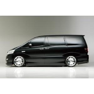WALD ヴァルド TOYOTA ALPHARD (アルファード) MZ/AZ/MX/AX MNH/ANH10W/15W M/C後 EXECUTIVE LINE V2 SIDE STEP(FRP...