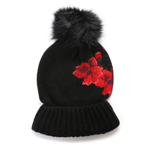 【SALE 60%OFF】デシグアル Desigual HAT_RED FLOWERS (NEGRO)