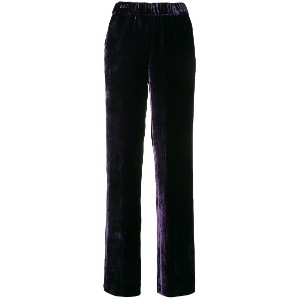 P.A.R.O.S.H. side stripe velvet trousers - パープル
