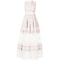 Huishan Zhang floral embroidered evening dress - ピンク