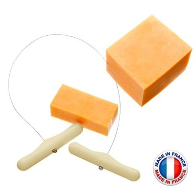 (Cheese Wire) - Happy Sales HSCS-SMF, Stainless Steel 46cm Cheese Wire, MADE IN FRANCE.