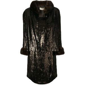 Yves Saint Laurent Vintage 1964 sequinned dress & jacket - ブラウン