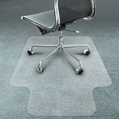 Office Chair Mat forカーペット床by somolux PVCプラスチックコンピュータデスクフロアマットクリアOversized and Rolling Delivery、保護パイルカーペットでホームとオフィス(48x 36x 1/12) インチ
