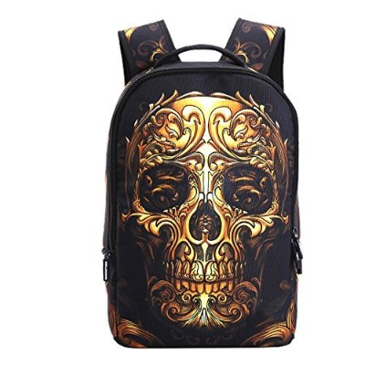 runningtiger Skull Print LaptopバックパックスクールBag for Boys & Girls
