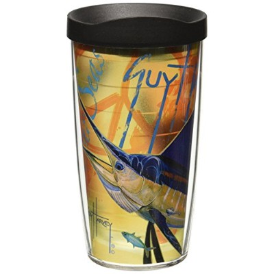 TervisタンブラーラップGuy Harvey 16-oz Insulated Tumbler with Lid 16oz. GHSF-LBLK-16WRA
