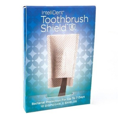 Intellident Antimicrobial Toothbrush Shields 10ct Pack of 2 by Intellident