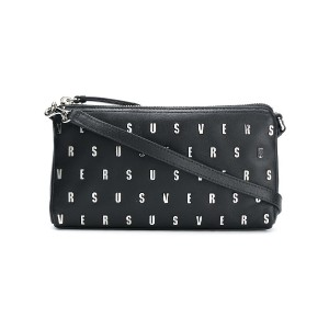 Versus logo studded clutch bag - ブラック